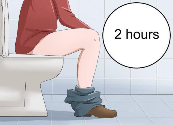 В течение нескольких часов не отходите далеко от туалета
