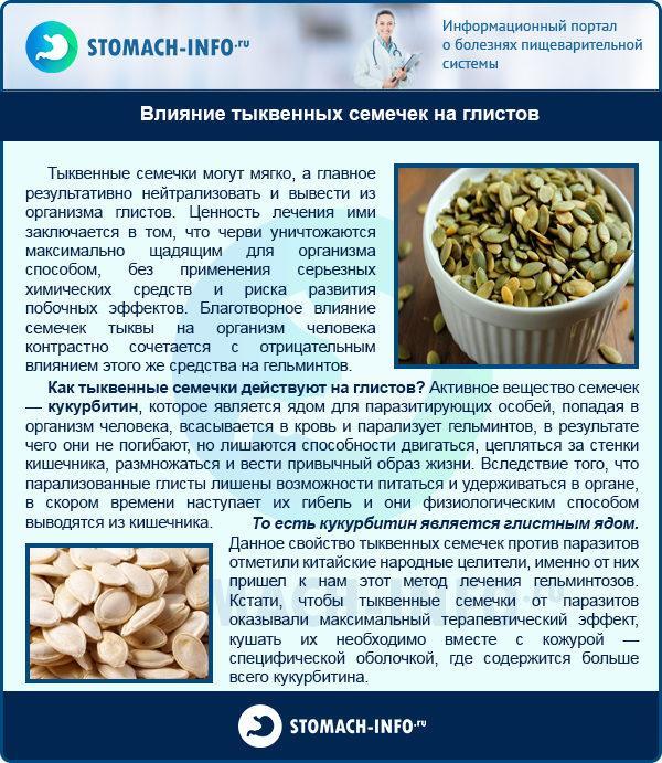 Влияние тыквенных семечек на глистов