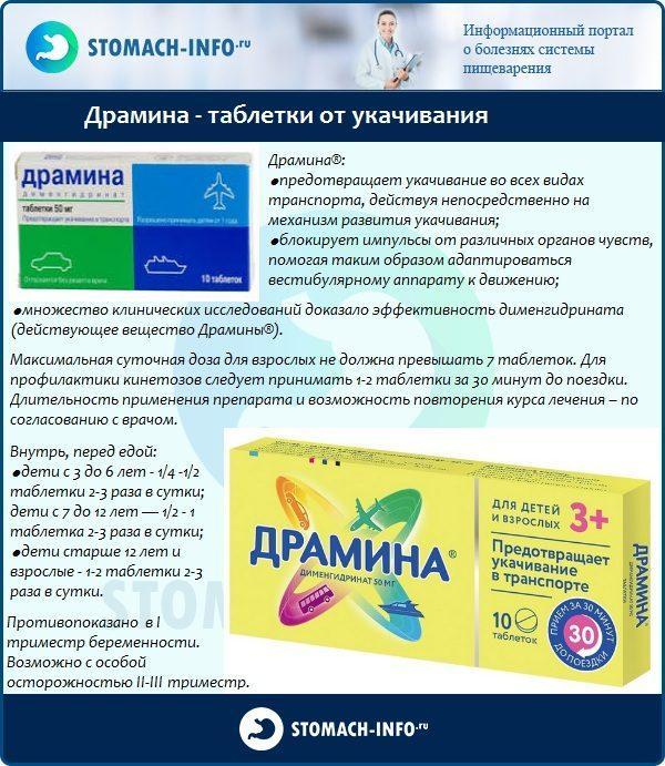 Драмина - таблетки от укачивания