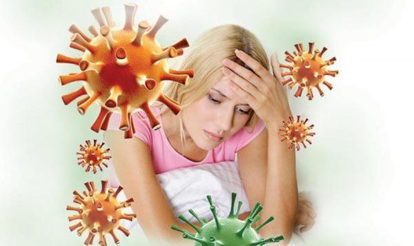 Иммунитет во время беременности снижается и в организм женщины легче проникают различные инфекции
