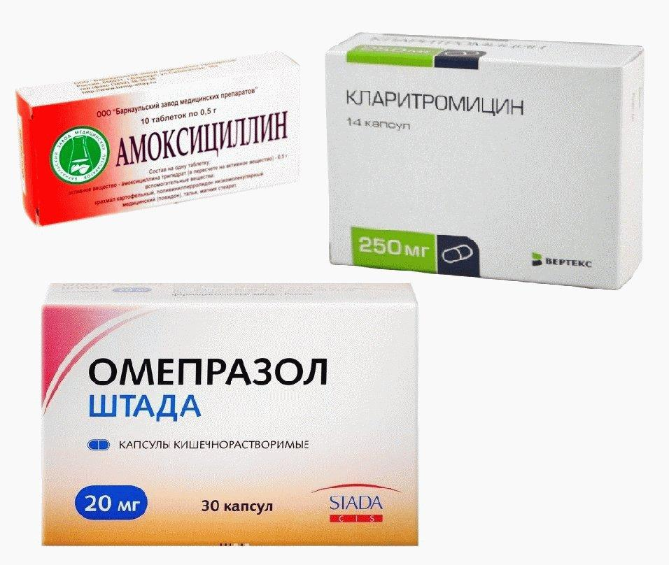 Схема лечения хеликобактер пилори антибиотиками