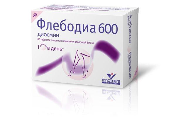 Флебодиа применяется при острых и хронических формах геморроя