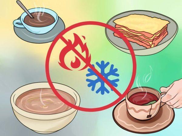 Горячую и холодную еду при язве пищевода запрещено употреблять