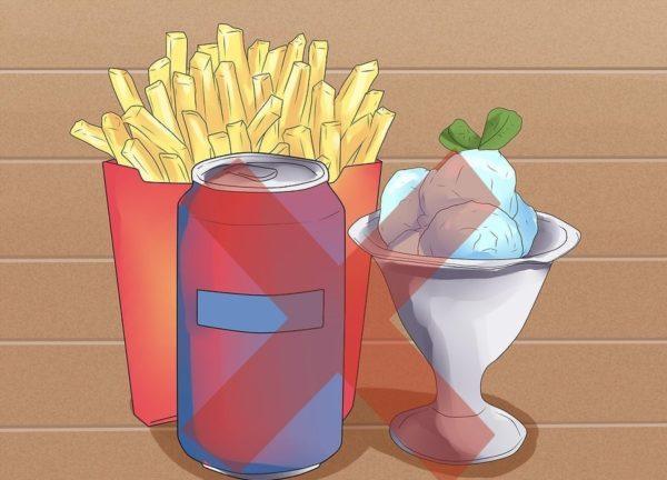 Избегайте употребления жирной или слишком сладкой пищи