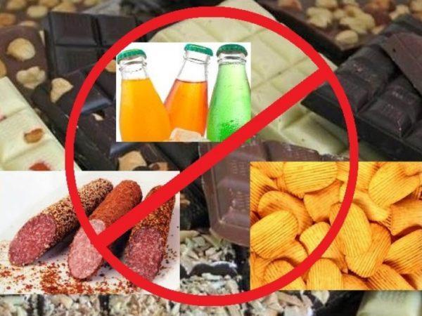 От каких продуктов нужно отказаться