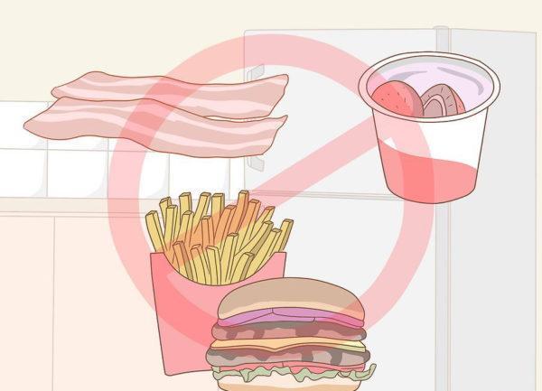 Откажитесь от жирной и жареной пищи