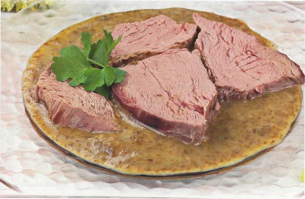 Питание: отварное мясо