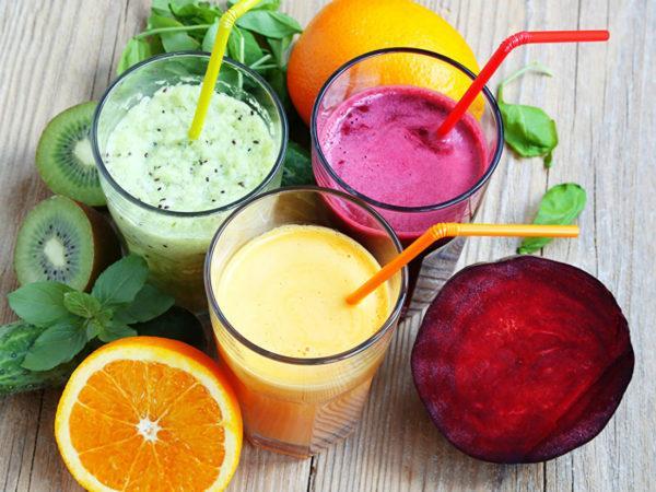 Полезные коктейли из овощей и фруктов