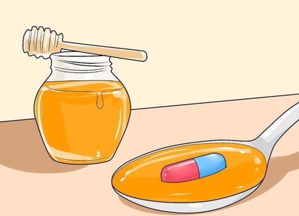 Проглотите таблетку с медом