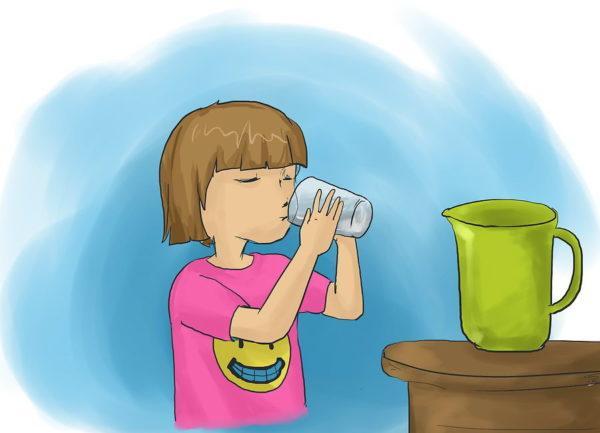 Пусть ребенок пьет много воды