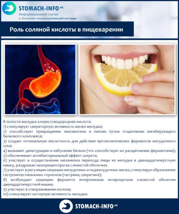 Роль соляной кислоты в пищеварении