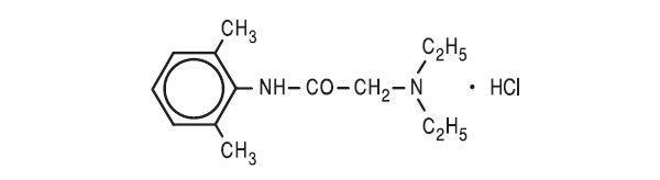 """Структурная формула """"Лидокаина гидрохлорида"""""""