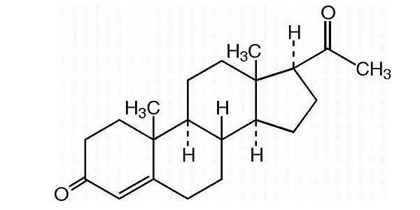 Структурная формула прогестерона