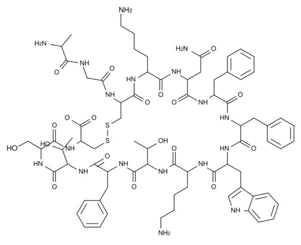 Структурная формула соматостатина
