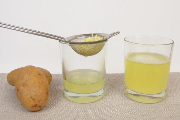 Сырой картофельный сок