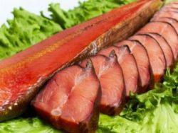Жирная рыба со специями, копченая и т.д.