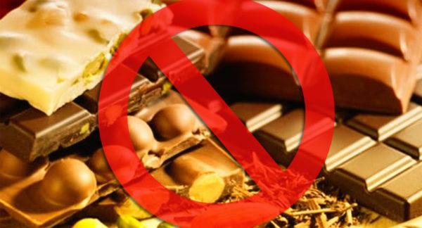За сутки до фиброгастроскопии запрещено есть шоколад