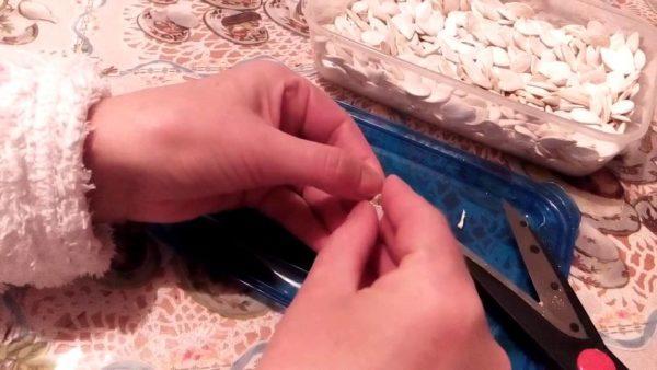 Очищать семечки нужно непосредственно перед употреблением
