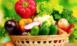 Листовая капуста, огурцы, зелень, помидоры, перцы, редис и тому подобное