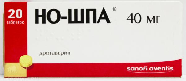 Перед процедуорй можно выпить спазмолитик, например, препарат «Но-Шпа»