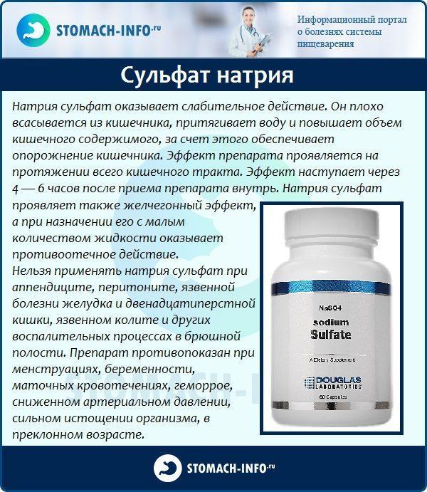 Сульфат натрия в медицине