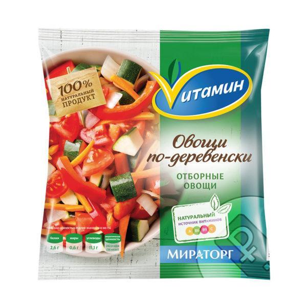 В замороженных овощных смесях могут присутствовать следы глютена