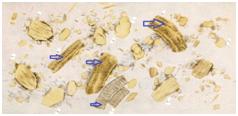 Неизмененная форма, волокна (белки полностью непереваренные)