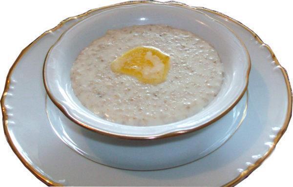 Первой пищей после процедуры должна быть рисовая или овсяная каша с небольшим количеством сливочного масла