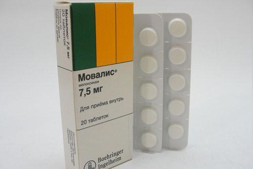 Препарат Мовалис в форме таблеток