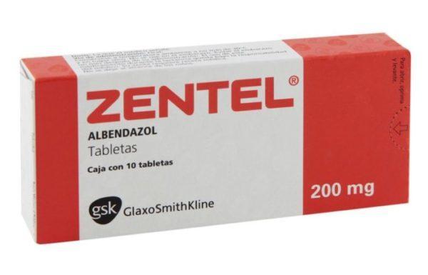 Препарат Зентел в форме таблеток