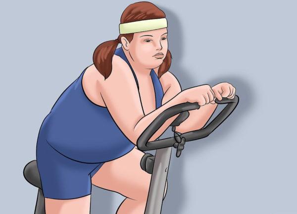 При необходимости сбросьте лишний вес