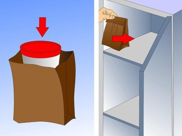 При необходимости собранный кал можно некоторое время хранить в холодильнике