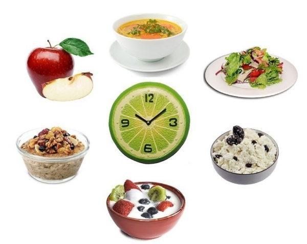 Принимать пищу следует 5-6 раз в день, порциями не более 200 г
