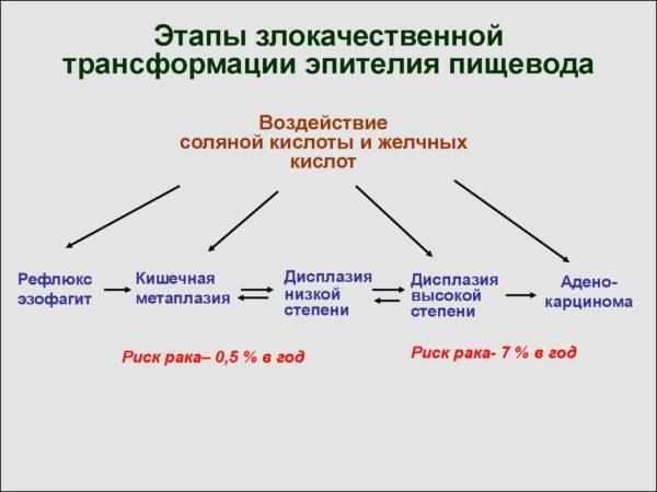 Процесс трансформации здоровых клеток в патологические