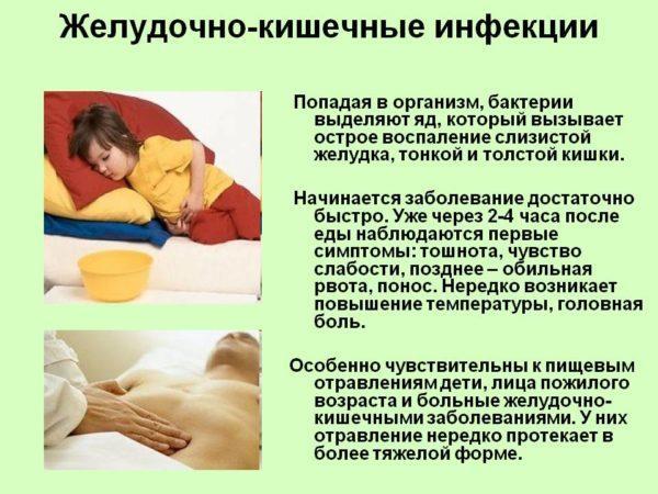 Развитие кишечной инфекции