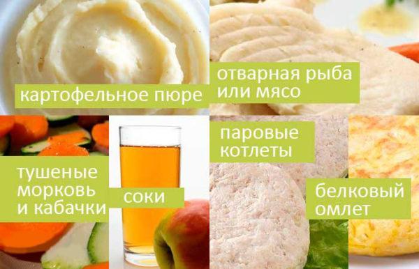 Рекомендованные блюда при удалении желчного пузыря
