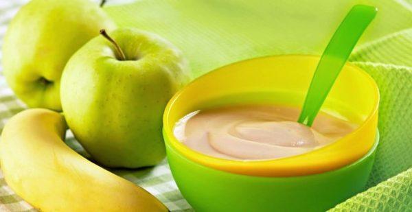 Рекомендуется включить в меню фруктовые и овощные пюре