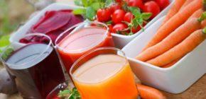 Соки тыквы, свеклы и томатов