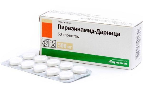 Таблетки Пиразинамид