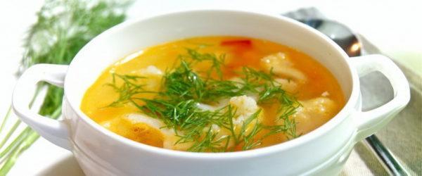 В первое время нужно отдавать предпочтение жидким блюдам, например, овощным супам