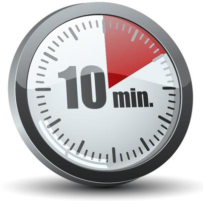 Обычно процедура длится не дольше 10 минут