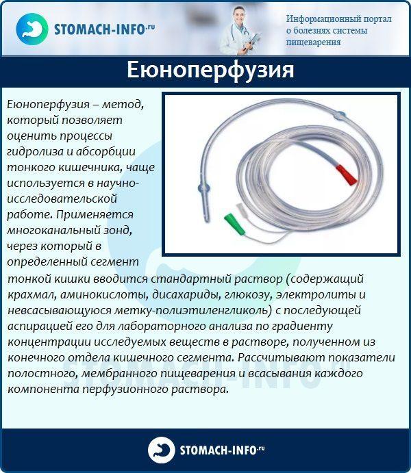 Диагностика с помощью еюноперфузии