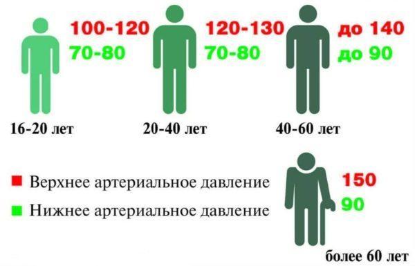 Нормы артериального давления в зависимости от возраста