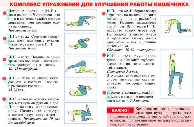Комплекс упражнений для улучшения работы кишечника
