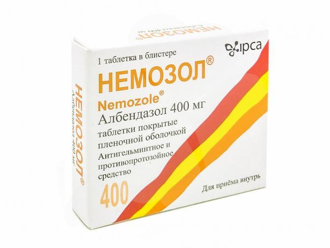 Противоглистный препарат Немозол